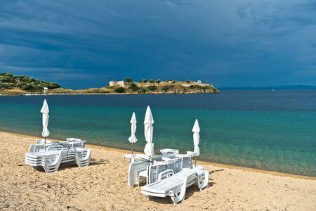 sithonia: Seascape and perfect light after summer storm near small greek village Toroni, Sithonia, Greece