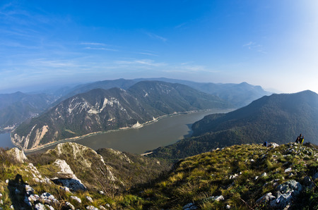hillsides: Hillsides of a Miroc mountain over Danube river and Djerdap gorge and national park, east Serbia