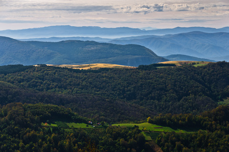serbia landscape: Landscape of mount Bobija, peaks, hills, meadows and colorful forests, west Serbia