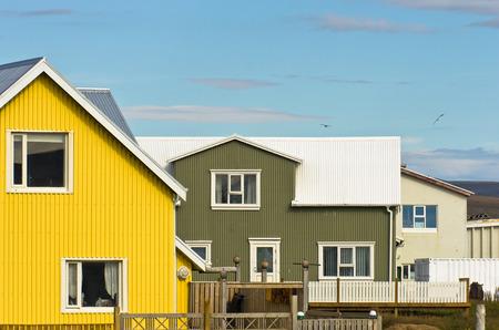 grindavik: Traditional icelandic architecture at city of Grindavik, Iceland