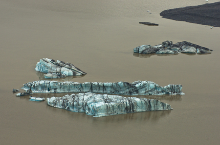 glacial: Melting of glacial ice during summer at Vatnajokull glacier, south Iceland