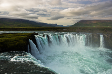 gods: Godafoss waterfall or waterfall of the gods biggest waterfall in Iceland