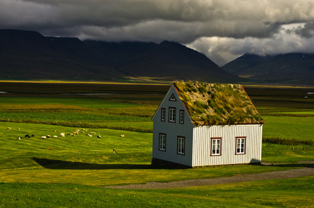 11th century: 19th century turf houses at Glaumbaer farm in north Iceland. First church at this location was built in 11th century by Eric the Reds grandson Snorri