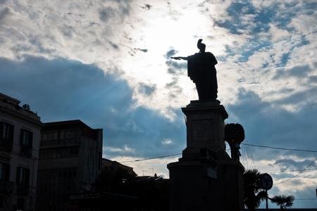felice: Carlo Felice monument on main square in Cagliari, Sardinia, Italy