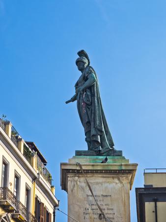 carlo: Carlo Felice monument on main square in Cagliari, Sardinia, Italy