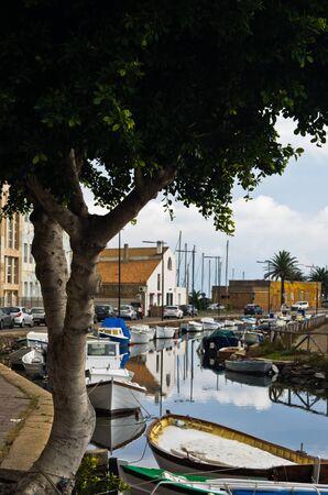 pietro: Marina for fishing boats at Carloforte, San Pietro island, Sardinia, Italy