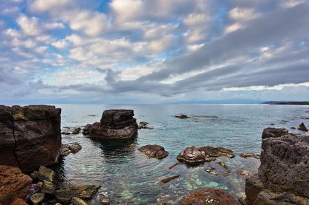 atun rojo: atún rojo del Atlántico lugar de desove favorita al final de la migración anual de las aguas del Mediterráneo cerca de la isla de San Pietro, Cerdeña, Italia