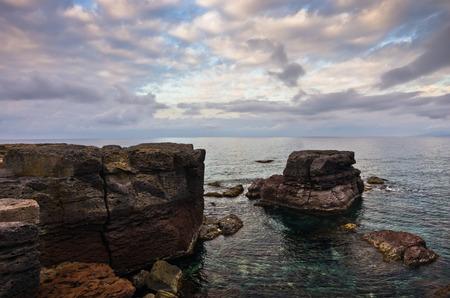 atun rojo: at�n rojo del Atl�ntico lugar de desove favorita al final de la migraci�n anual de las aguas del Mediterr�neo cerca de la isla de San Pietro, Cerde�a, Italia