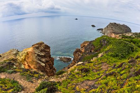 pietro: Capo Sandalo at west coast of San Pietro island, Sardinia, Italy Stock Photo