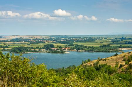 danubian: Danube river landscape and panorama near Stara Palanka in Serbia