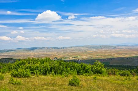 serbia landscape: Panorama of Pe�ter plateau landscape in southwest Serbia