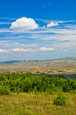 serbia landscape: Panoramic view of Pe�ter plateau landscape in southwest Serbia