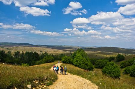 serbia landscape: Panorama of Pester plateau landscape in southwest Serbia Stock Photo