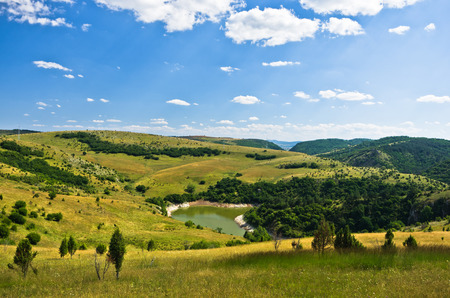 meanders: Meanders at river Uvac gorge on sunny morning, southwest Serbia Stock Photo