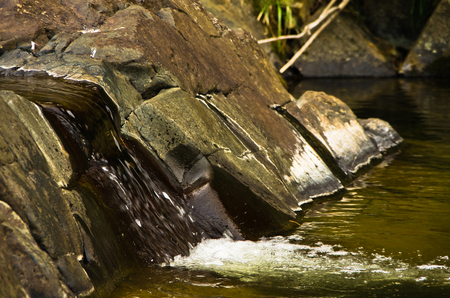 divcibare: Detail of rocks in water at Black river gorge, west Serbia Stock Photo