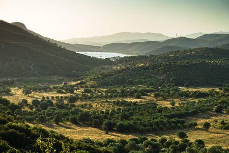 sithonia: Countryside near Porto Koufo harbor in Sithonia, Greece Stock Photo