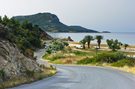 sithonia: Campers favorite site for summer vacations near Destenika beach in Sithonia, Greece