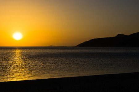 sithonia: Sunset at the most southern beach of Sithonia, Greece