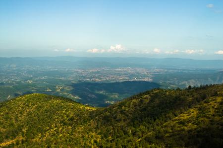 serbia landscape: Landscape around Troglav mountain at late summer, west Serbia