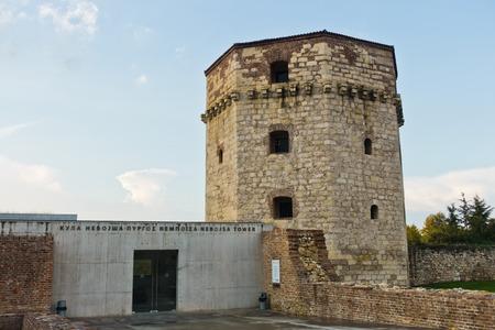 Nebojsa tower - between Kalemegdan fortress and Danube river, Belgrade, Serbia Editorial