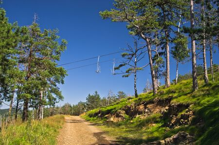 Mountain path below ropeway at Divcibare, west Serbia