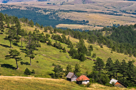 serbia landscape: Landscape of Divcibare mountain in west Serbia Stock Photo