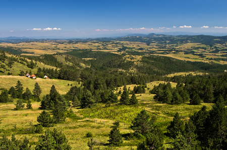 Landscape of Divcibare mountain in west Serbia Stock Photo