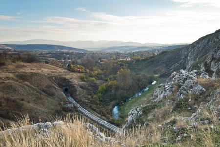 Autumn landscape of Nisevacka gorge in east Serbia