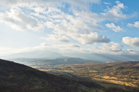 Landscape viewpoint from Svrljiske mountains in east Serbia