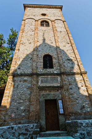 Bell tower at Raca monastery established in 13. century, west Serbia