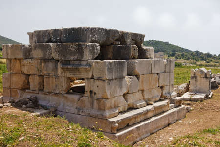 Lycian tombs near the road to ancient city of Patara, Lycia, Turkey