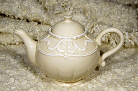 woolen: Teapot on a woolen blanket