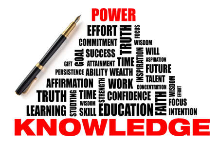 Illustration with concept - Knowledge leads to power