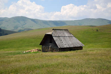 shepards: Wooden shepards house in the mountain during spring