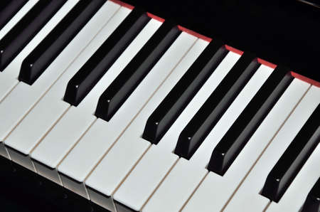 reproducing: Black and white keys, key elements for creating or reproducing a harmonic melody.