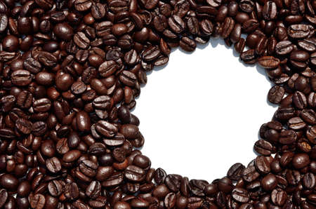 arabic coffee: Background of dark arabic coffee beans with white space for text