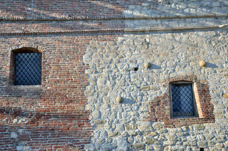 dungeon: Windows of dungeon built in medieval time by Turks with stone and reconstructed in XVIII century with bricks by Austro-Hungarian