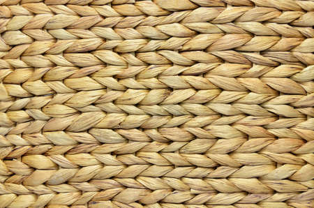 weave: Natural handmade woven corn husk surface as a background Stock Photo