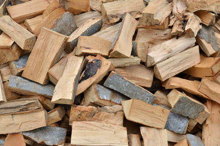 forestation: Pile of cut logs as a natural look background