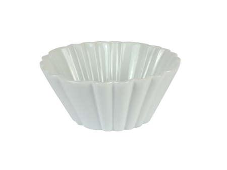 white backing: White porcelain bowl for backing isolated on white