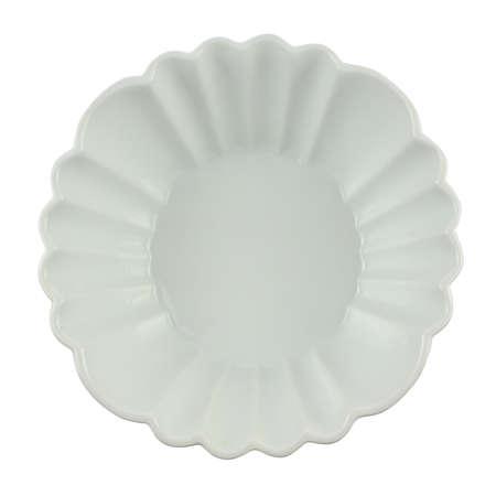 white backing: White porcelain bowl for backing isolated on white background shot from above