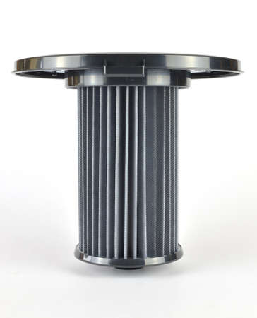 New unused filter of a vacuum cleaner - on a white background
