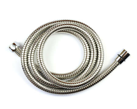 New shower hose on a white background