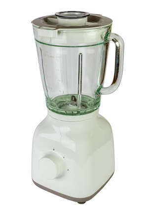White blender with a glass isolated on white background 写真素材