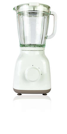 White blender with a glass isolated on white - front side 写真素材