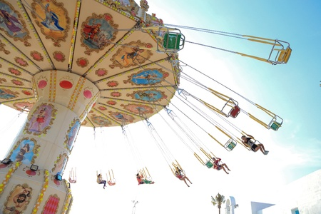 acrophobia: Flying Swinger at Santorini Park, Cha Am