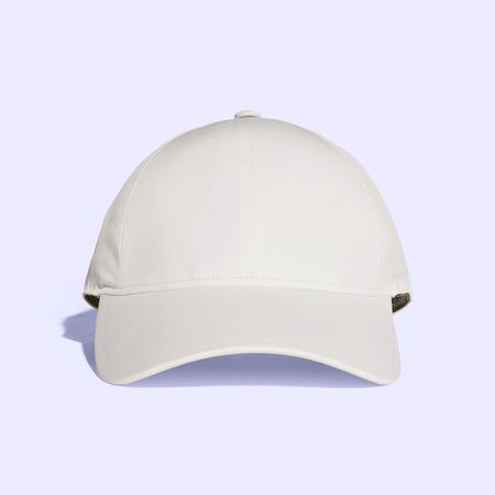 White Old Lace Baseball Cap Mock up 免版税图像