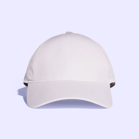 White Lavender Blush Baseball Cap Mock up