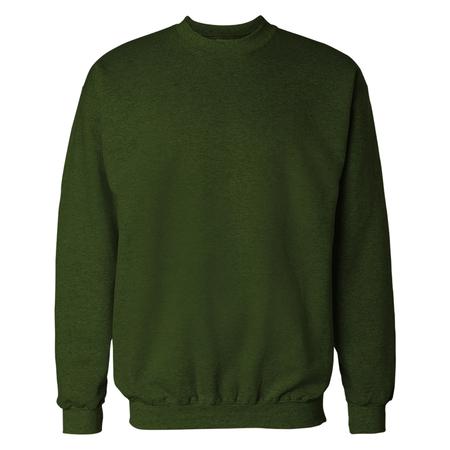 Dark Olive Green Crewneck Sweat Shirt Mockup