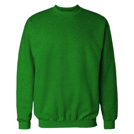 Lime Green Crewneck Sweat Shirt Mockup 写真素材